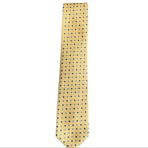 Stafford Yellow Blue Dotted Neck Tie